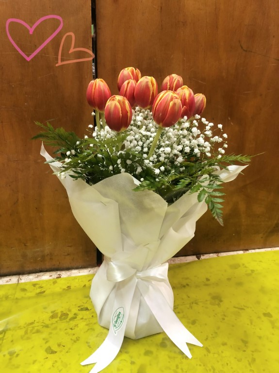 Bouquet of tulips  - PEACH