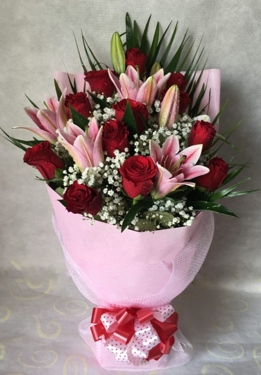 Bouquet Magic Lilies & roses