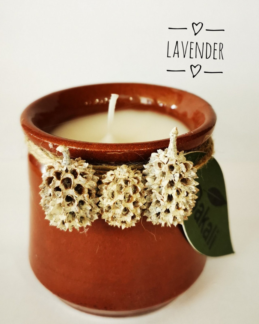 Handmade candle lavender #217
