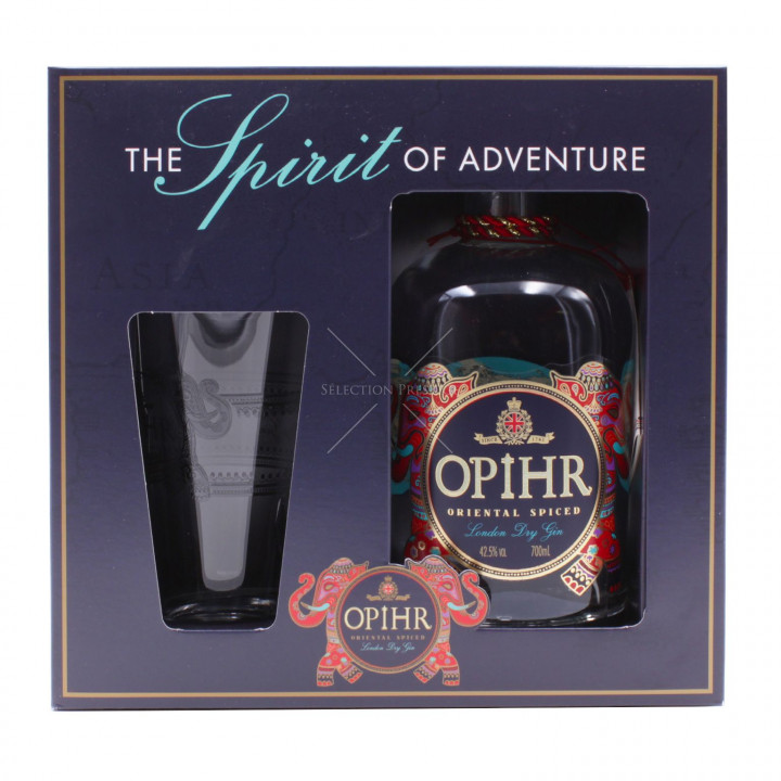 OPIHR GIN W/GLASS 70CL
