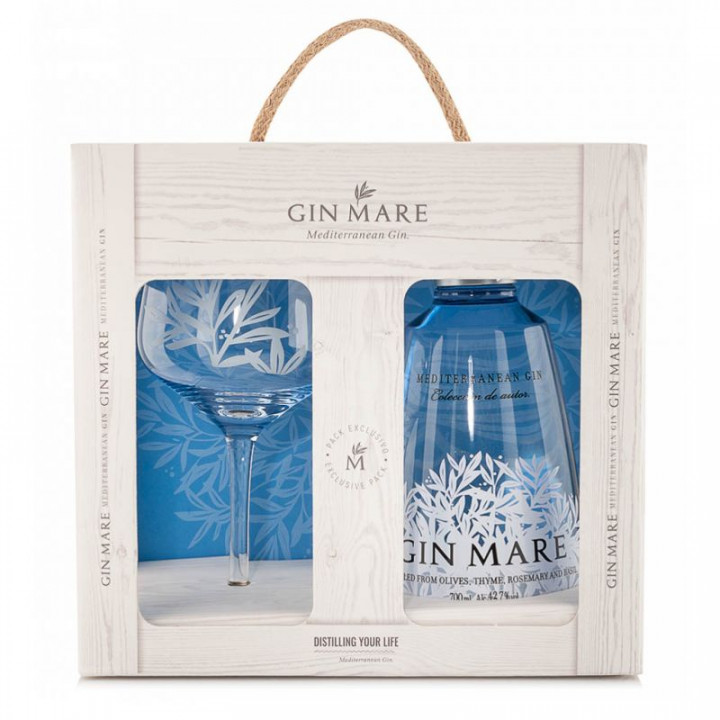 GIN MARE +1 GLASS GIFT 70CL
