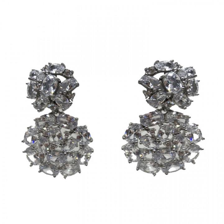 White Gold earrings - SILVER