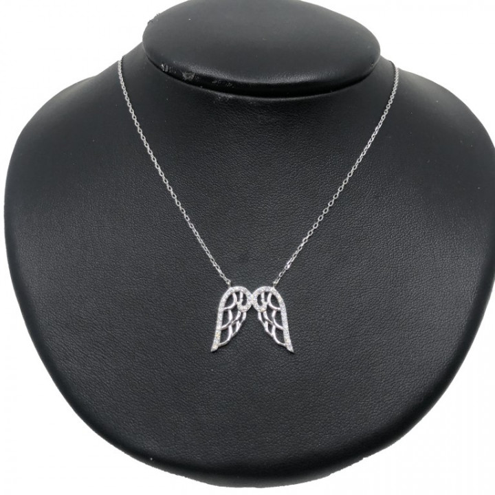 White Gold Wings necklace - SILVER