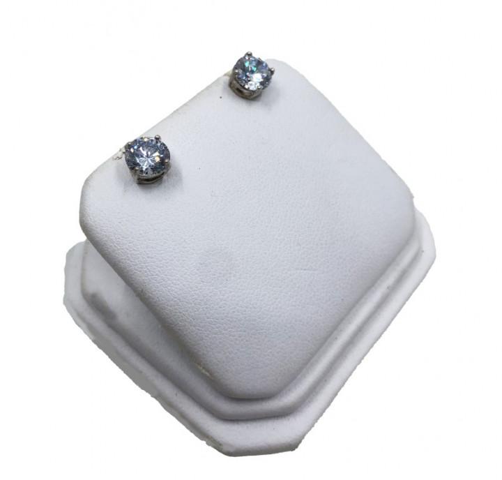 White gold diamond earrings - SILVER