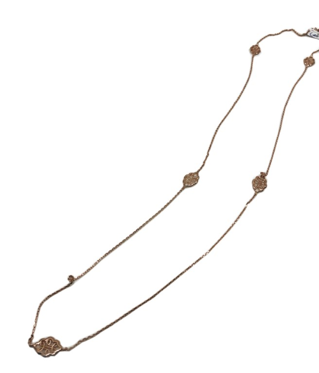 rose gold necklace with shapes - SILVER