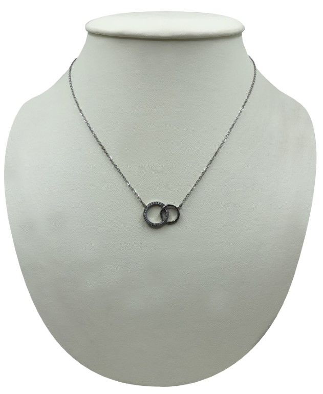 white gold circle shaped necklace - Silver - SPECIAL OFFER