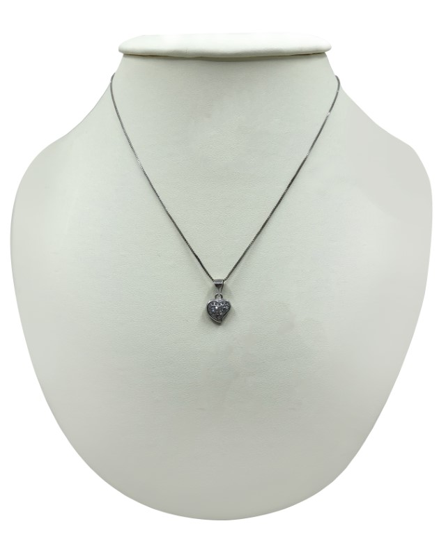 white gold heart necklace - Silver - SPECIAL OFFER