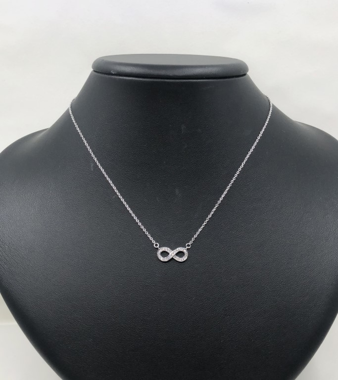 white gold infinity necklace - Silver - SPECIAL OFFER
