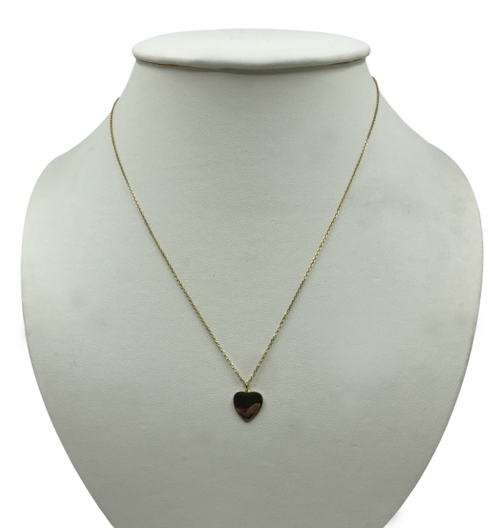 yellow gold heart necklace - Silver - SPECIAL OFFER