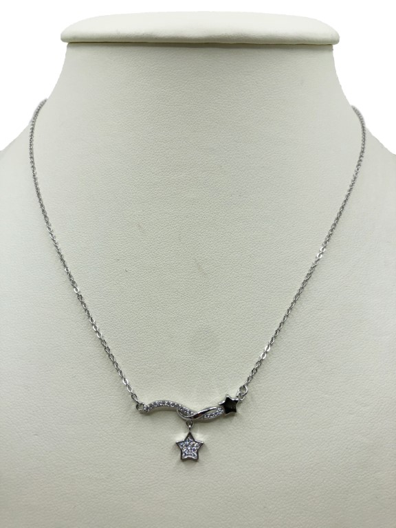 white gold necklace with stars - Silver - SPECIAL OFFER
