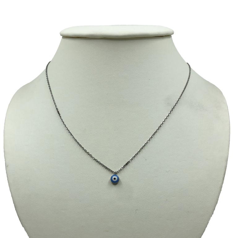 white gold necklace with evil eye - Silver - SPECIAL OFFER