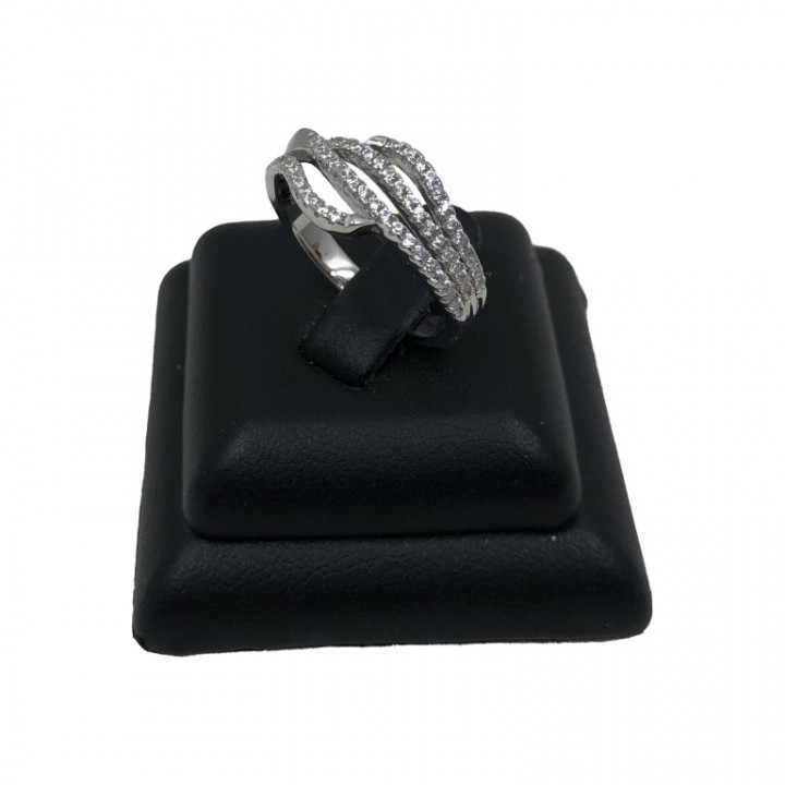white gold four layered ring - Silver - SPECIAL OFFER