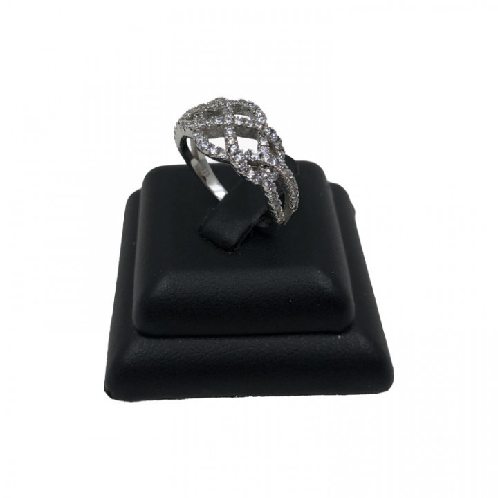 white gold assymetric ring - Silver - SPECIAL OFFER