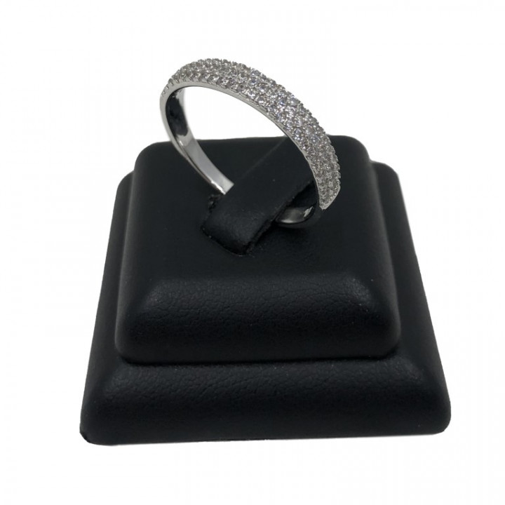 white gold ring with rhinestones - Silver - SPECIAL OFFER