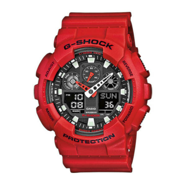 Casio G-Shock Protection Red GA-100B-4AER