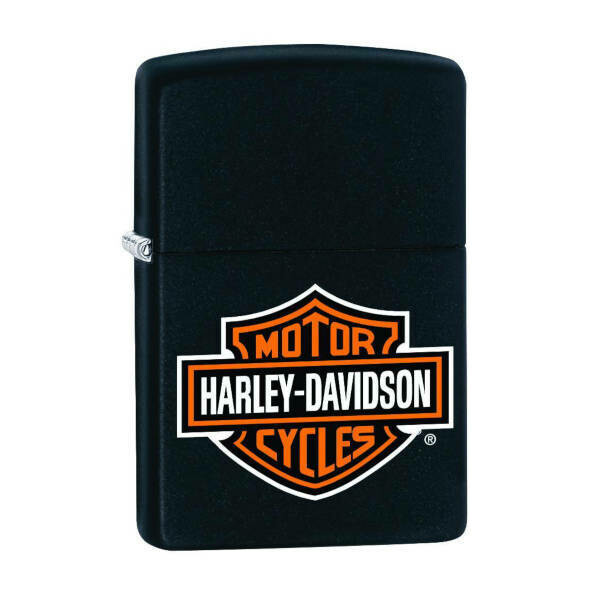 Zippo Windproof Lighter - Harley Davidson (Black)