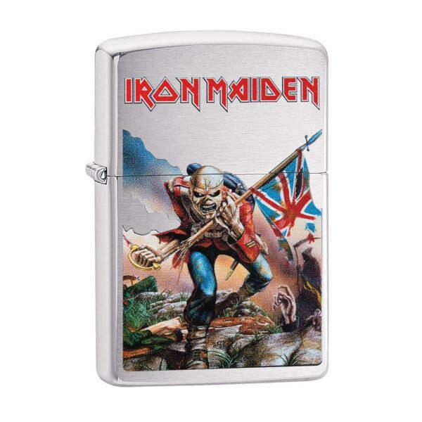 Zippo Windproof Lighter - Iron Maiden The Trooper (Silver)