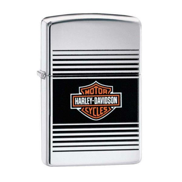 Zippo Windproof Lighter - Harley Davidson (Silver)
