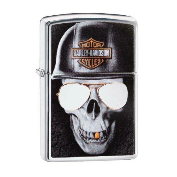 Zippo Windproof Lighter - Harley Davidson Skull