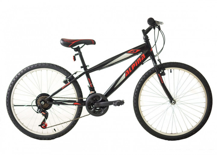 "ALPINA MTB 24"" - MATT GREY/RED"