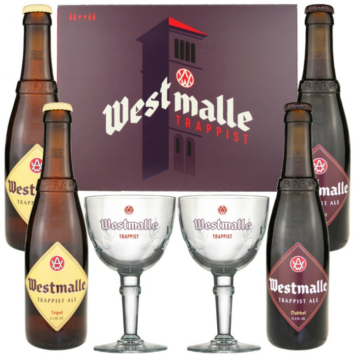 Westmalle Gift Pack (4 x 33cl + 2 Glasses)