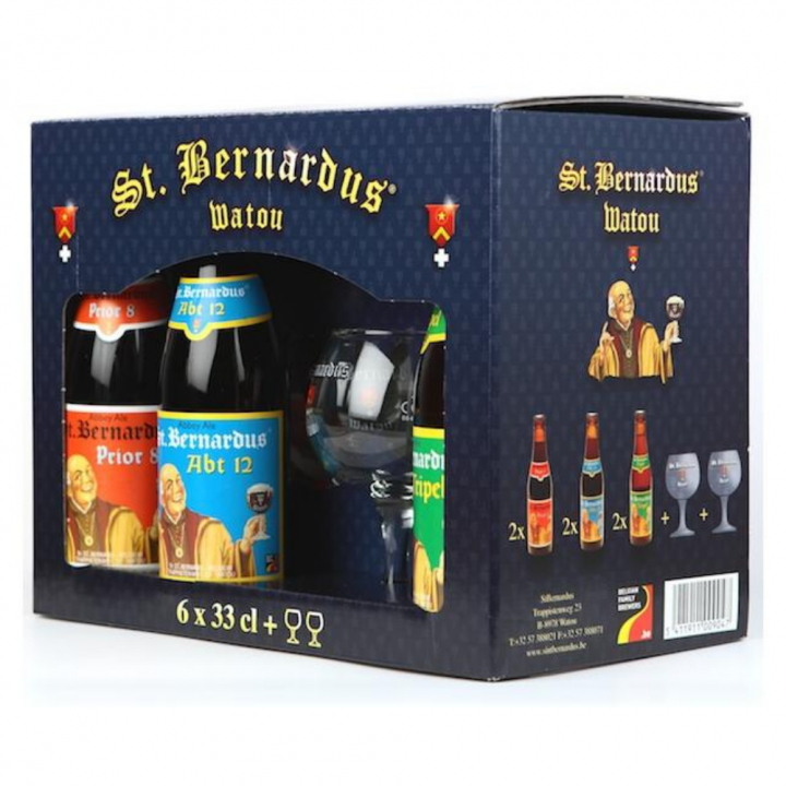 St Bernardus Gift Pack (6 x 33cl + 2 Glasses)