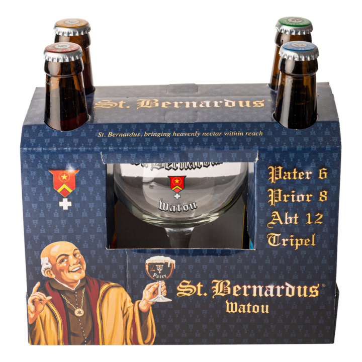St Bernardus Gift Pack (4 x 33cl + Glass)