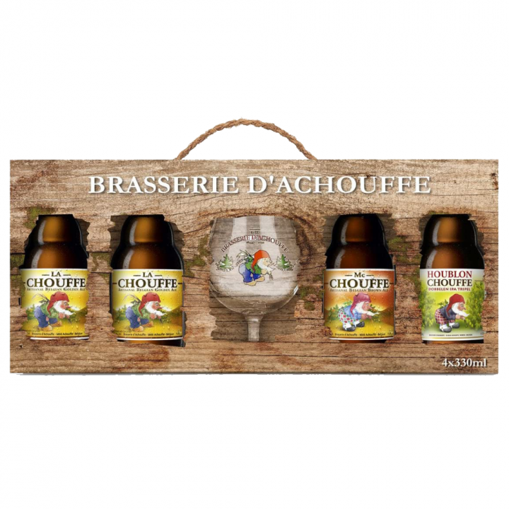 Chouffe Family Gift Pack (4 x 33cl + Glass)
