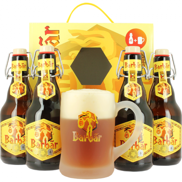 Barbar Gift Pack (4x33cl + Glass)