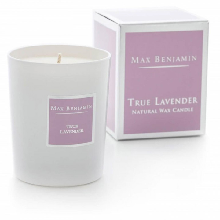 TRUE LAVENDER GLASS CANDLE 190g