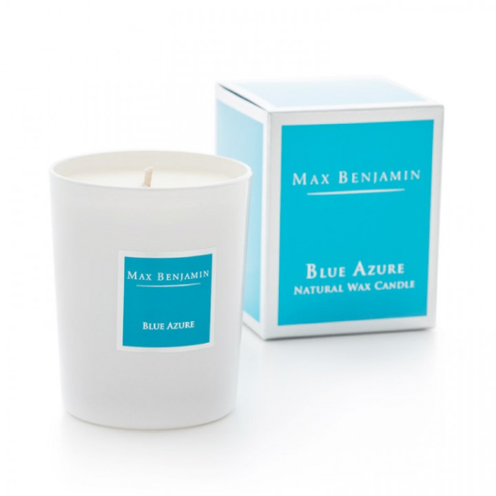 BLUE AZURE GLASS CANDLE190g