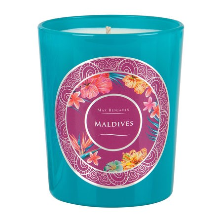 MALDIVES SCENTED GLASS CANDLE 190G