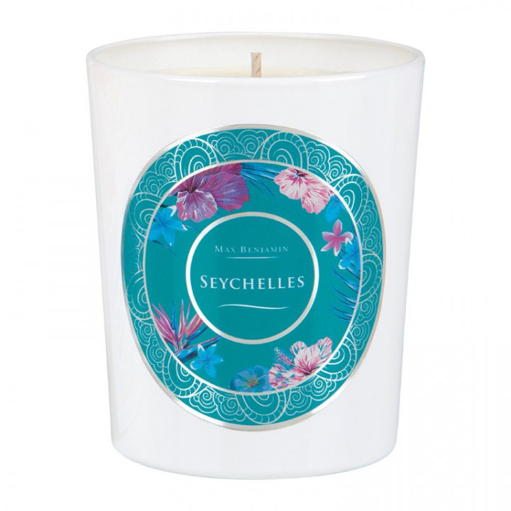 SEYCHELLES SCENTED GLASS CANDLE 190G