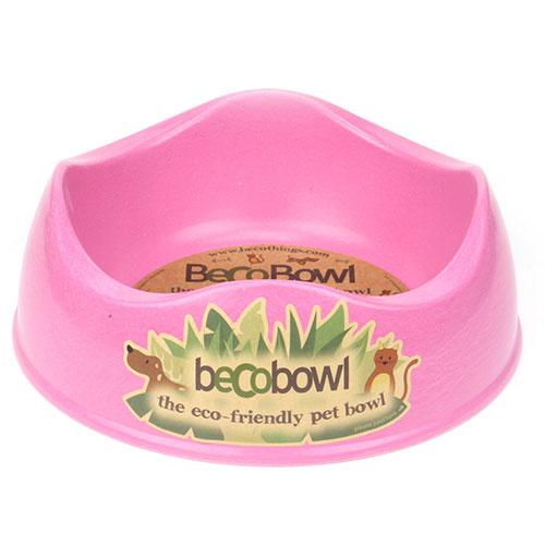 BECO - PINK BAMBOO DOG BOWL