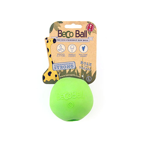 BECO - GREEN RUBBER TREAT BALL