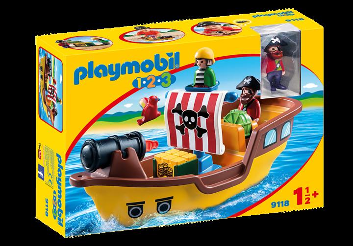 PLAYMOBIL 9118 - Πειρατικό καράβι 1.2.3