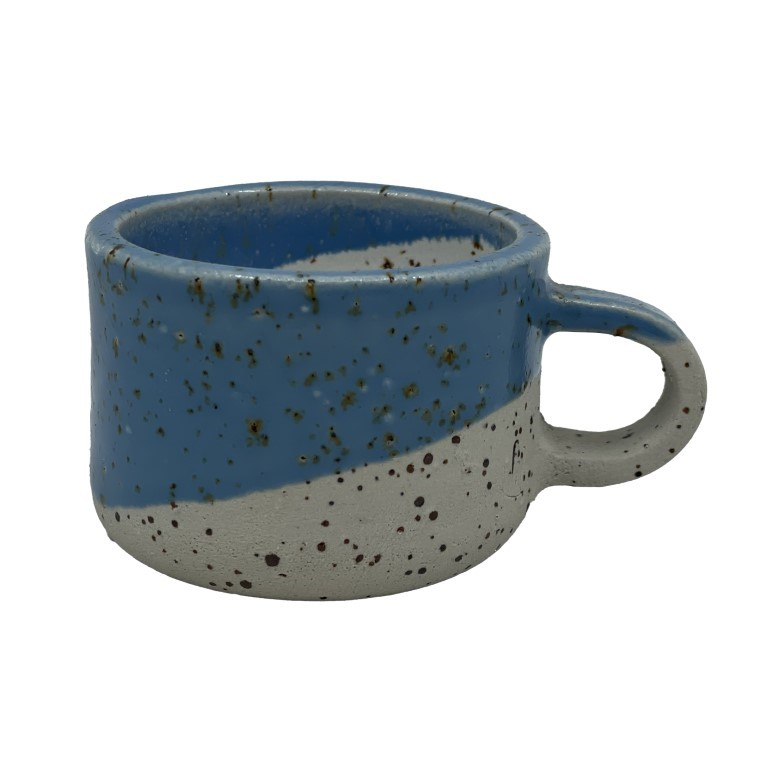 Handmade Ceramic Espresso Cup 50ml - Sea