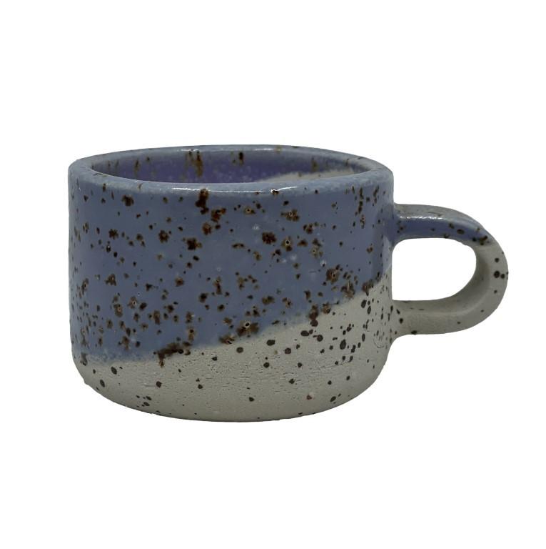 Handmade Ceramic Espresso Cup 50ml - Flower
