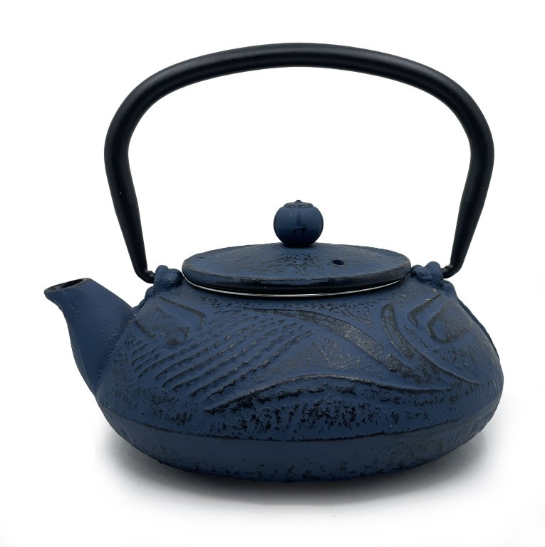 Blue Cast Iron Teapot 500ml