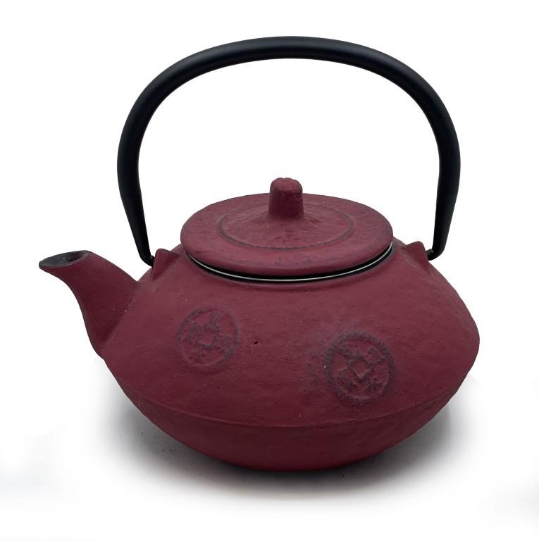 Red Cast Iron Teapot 700ml