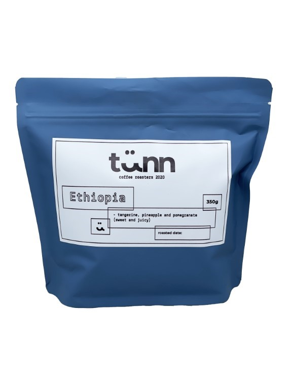 Ethiopia 350g - Grinded for Filter Coffee (with paper)