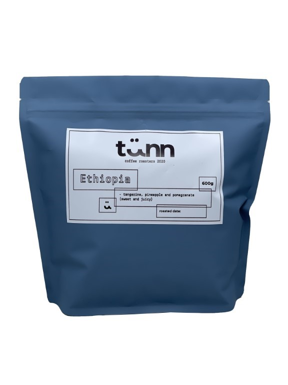 Ethiopia 600g - Grinded for Filter Coffee (with paper)