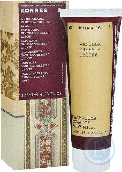 Korres Vanilla, Freesia & Lychee Body Milk 125ml