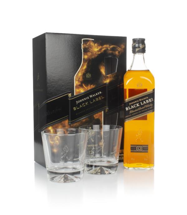 JOHNNIE WALKER BLACK LABEL 70CL + GLASSES