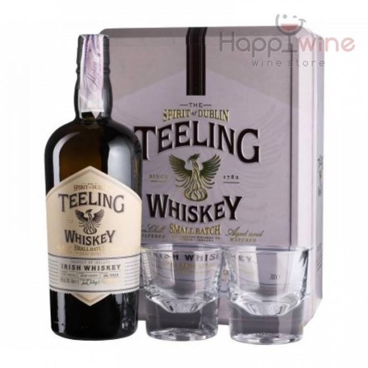 TEELING IRISH WHISKEY GLASS GIFT PACK 70CL