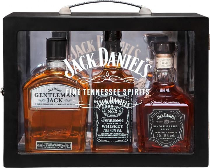 JACK DANIELS FAMILY OF BRANDS BOURBON WHISKEY 3X70CL