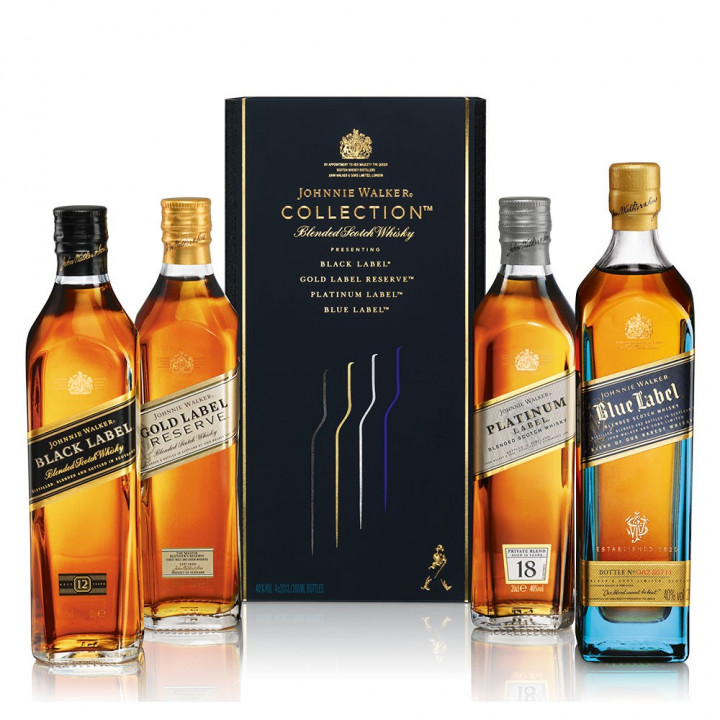 JOHNNIE WALKER COLLECTION 4X20CL BLENDED WHISKY