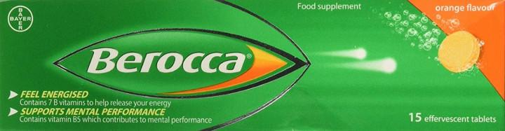 Berocca Orange Flavour Effervescent 15 Tablets