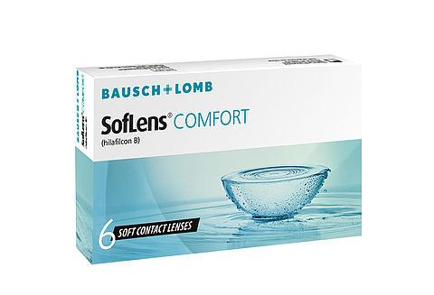 +2.00ds Bausch + Lomb Soflens comfort 6 lenses