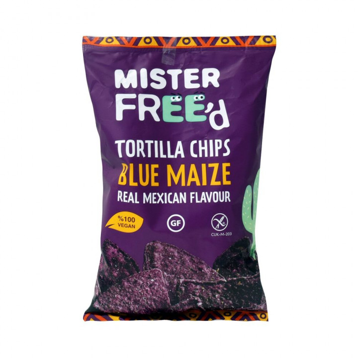 Misterfreed Tortilia Chips - Blue maize real mexican flavour